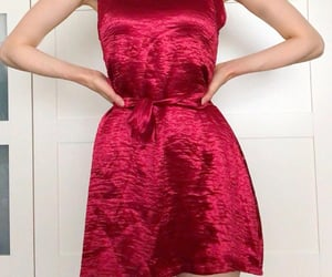 dress, ootd, and red dress image