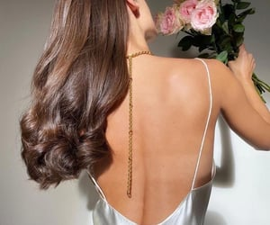 hair, brunette, and rose image