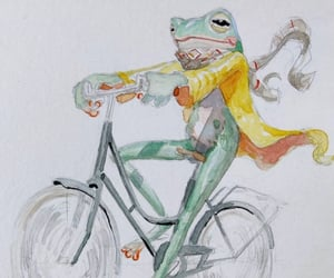 ancient, drawing, and frog image