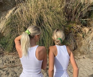 beach, hair, and ponytail image