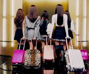 bags, girls, and grey image