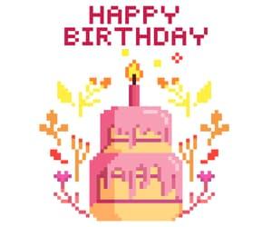happy birthday, 8bit, and pixel art image