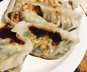 chinese food, dumplings, and nyc image
