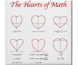 math, the hearts of math, and cute image
