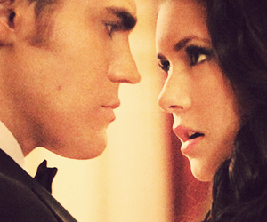 Nina Dobrev, elena gilbert, and stefan salvatore image