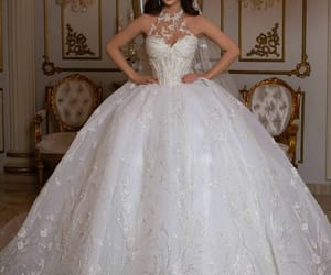 beautiful, white dress, and bride image