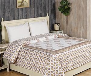 block print dohar, summer blankets, and jaipuri dohars image
