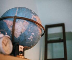 globe, aesthetic, and blue image