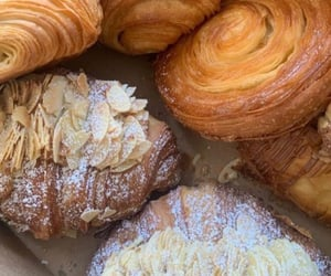 food, sweet, and croissant image