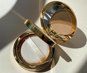 gucci, makeup, and gold image