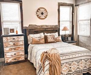 aztec, western, and bedroom image