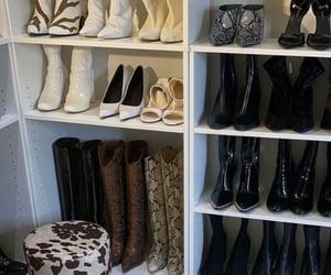 closet, fashion, and shoes image