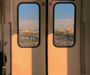 aesthetic, sun, and train image