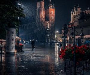 city, night, and Poland image