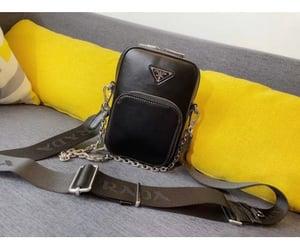 black, mini bag, and Prada image