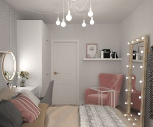 beige, Blanc, and Chambre image