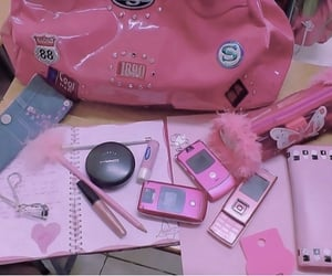 cell, cellphone, and school supplies image
