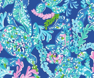 background, coral, and preppy image