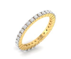 diamond ring, rings, and diamond band ring image