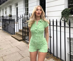 street style, everyday look, and green romper image