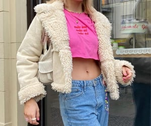 faux fur, street style, and everyday look image