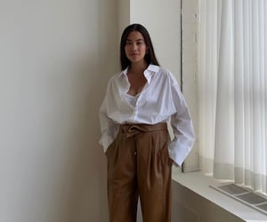 button up shirt, classy, and white top image