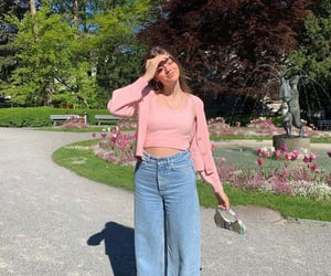 summer, everyday look, and wide leg image