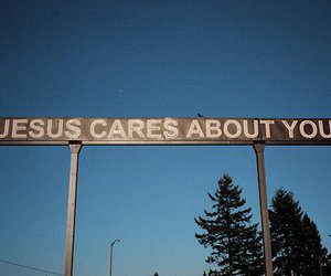 jesus, care, and sign image