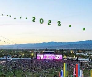 coachella, crowd, and festival image