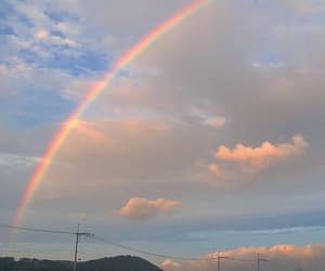 sky, rainbow, and aesthetic image