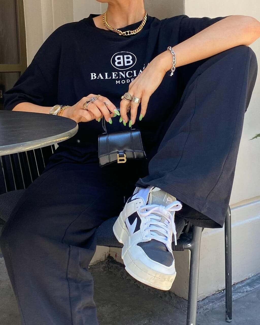 Balenciaga, blogger, and blue pants image