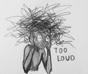 art, sad, and black image