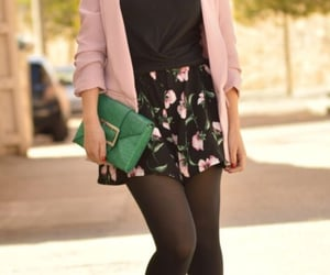 pink & black, pink heels, and street fashion image