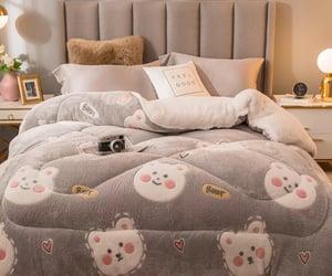 comforter, bear, and bedding image