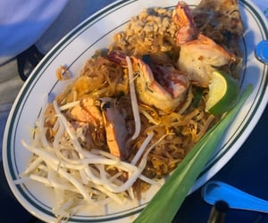 dinner, food, and shrimp image