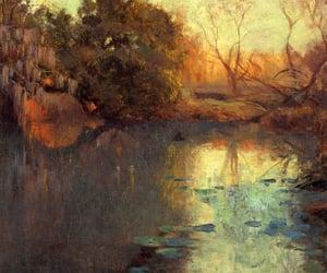 1910, on the san antonio river, and robert julian onderdonk image