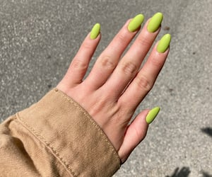 fashion, green nails, and lime image