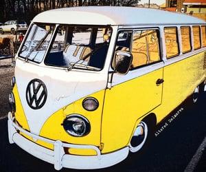 bus, yellow, and retro image