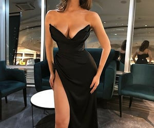 chic, dress, and girl image