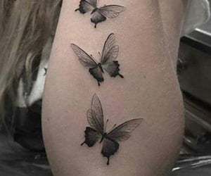 butterflies, butterfly, and tattoo image