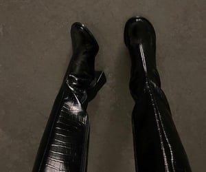 aesthetic, black, and shoes image