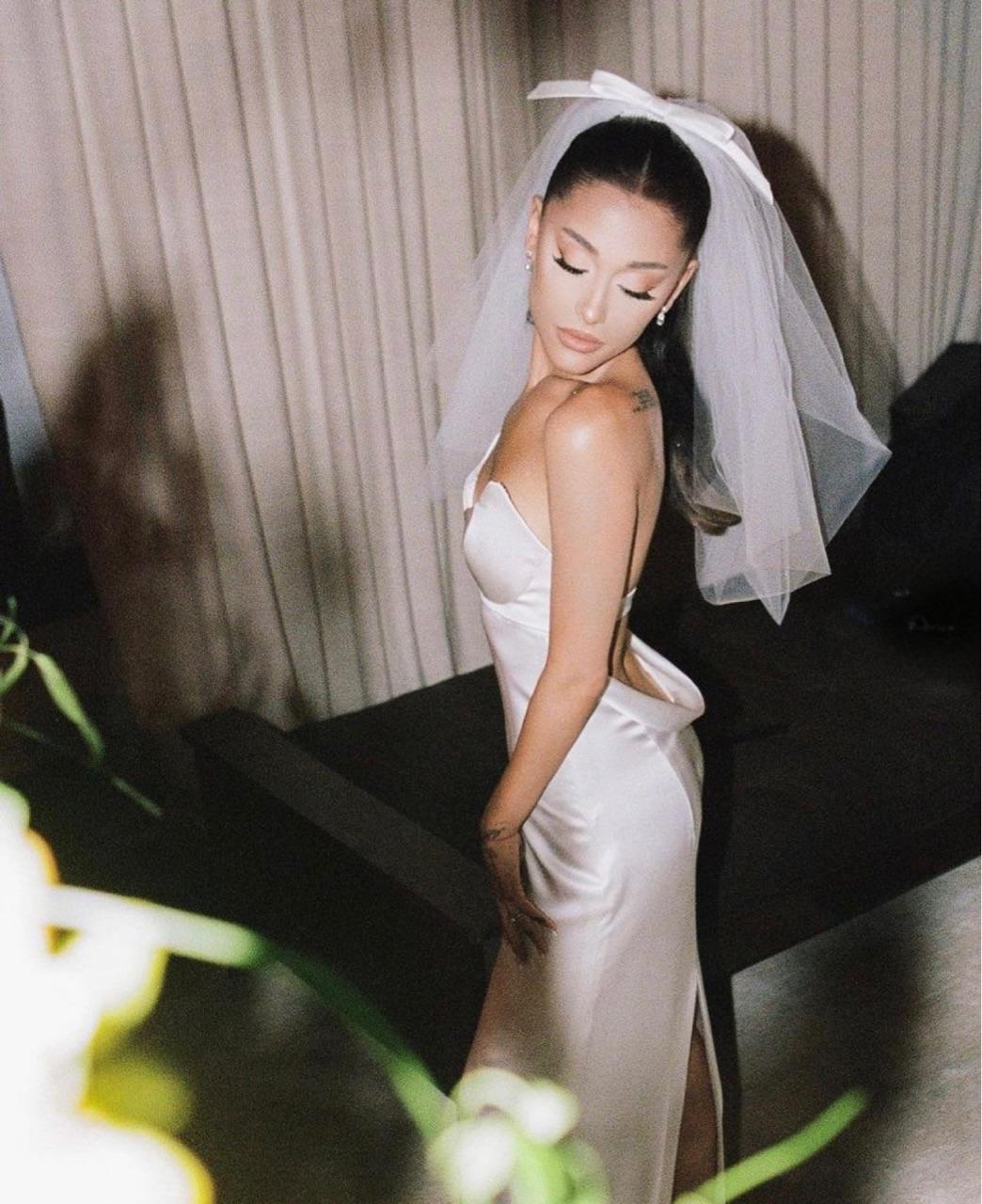 ariana grande, wedding, and bride image
