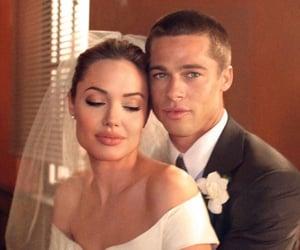 Angelina Jolie, brad pitt, and wedding image