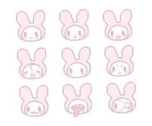 pink, bunny, and kawaii image