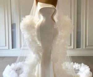 haute couture, wedding gown, and tulle gown image