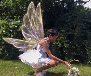 fairy, fairycore, and flowers image