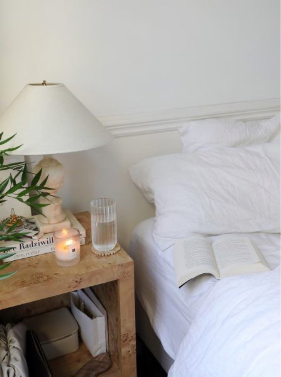 candle, bedroom, and book image