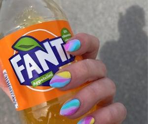 nail art, nails, and soda image