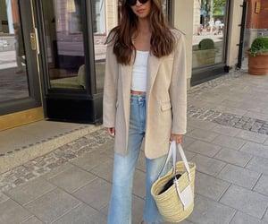 blogger, fashion, and blue denim jeans image
