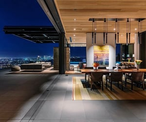 architecture, california, and city lights image